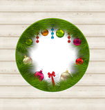 Christmas frame with traditional elements and copy space for you. Illustration Christmas frame with traditional elements and copy space for your text - vector Stock Photography