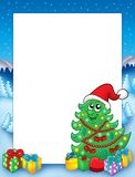 Christmas frame with tree 3 Stock Images