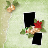 Christmas frame for two photos Stock Photography