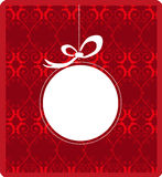 Christmas Frame. Vector illustration of Christmas frame design with red color decorated background Stock Photography