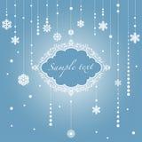 The Christmas frame. Vector illustration Stock Photos