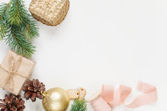 Christmas frame on a white background Stock Photography
