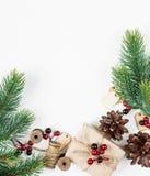 Christmas frame on a white background Stock Photo