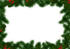 Christmas Frame on White Stock Images