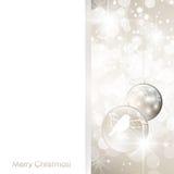 Christmas Frame With Balls Royalty Free Stock Photos