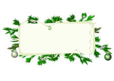 Christmas framed banner Royalty Free Stock Photo