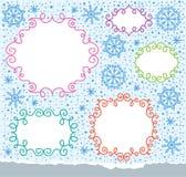 Christmas frames Royalty Free Stock Image
