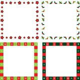 Christmas frames. Frames and borders for your beautiful Christmas images Royalty Free Stock Images