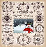 Christmas Frames & Boaders vector Royalty Free Stock Photography