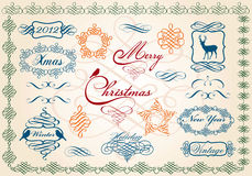 Christmas frames and borders, vector royalty free illustration