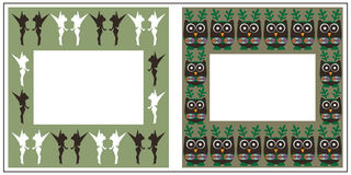 Christmas frames. On green background Royalty Free Stock Photos