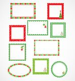 Christmas frames and labales Royalty Free Stock Photo