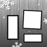 Christmas frames Stock Photography