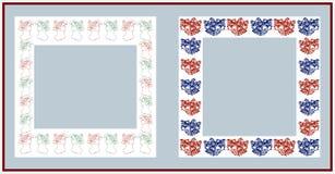 Christmas frames. On white background Stock Images
