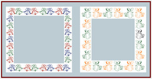 Christmas frames. On white background Stock Photography