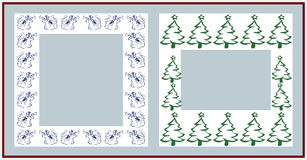 Christmas frames. On white background Royalty Free Stock Photo
