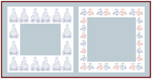 Christmas frames. On white background Royalty Free Stock Photography