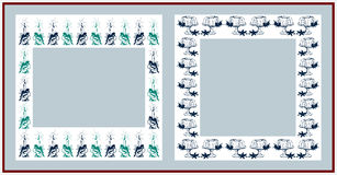 Christmas frames. On white background Royalty Free Stock Images