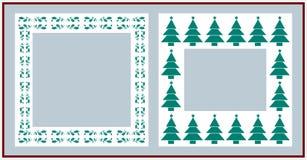 Christmas frames. On white background Stock Photo