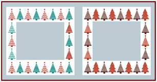 Christmas frames. On white background Royalty Free Stock Image