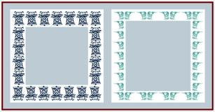 Christmas frames. On white background Royalty Free Stock Photos