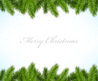Christmas framework with fir tree Stock Photos