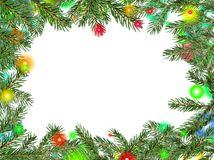 Christmas framework from fur-tree b Royalty Free Stock Photo