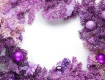 Christmas framework magenta fir Stock Images
