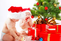 Christmas  friends Stock Image