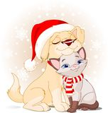 Christmas friends Royalty Free Stock Photography