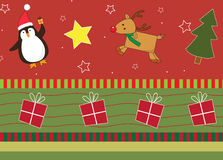 Christmas friends pattern Royalty Free Stock Image