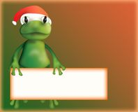 Christmas frog Royalty Free Stock Photo