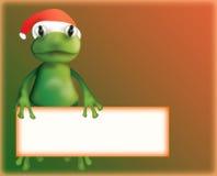 Christmas frog stock illustration