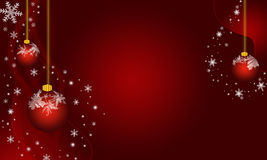 Christmas frosted ornaments. Vector image of Christmas frosted ornaments on burgundy background Royalty Free Stock Photos