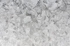 Icy frosty pattern on a window. stock illustration