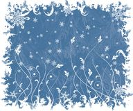 Christmas frosty background, vector Stock Photography