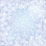 Christmas frozen background with snowflakes Royalty Free Stock Photo