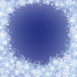 Christmas frozen background with snowflakes Stock Photography