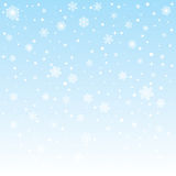 Christmas frozen background with snowflakes Royalty Free Stock Image