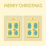 Christmas frozen windows Royalty Free Stock Photography