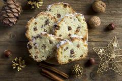 Christmas fruit bread Stock Image
