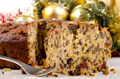 Christmas fruit cake Stock Photography