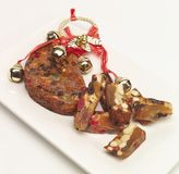 Christmas fruit cake. A Christmas fruit cake for all to share Stock Image