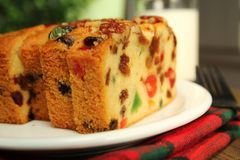 Christmas Fruit Cake Royalty Free Stock Photography