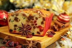 Christmas Fruit Cake Royalty Free Stock Images