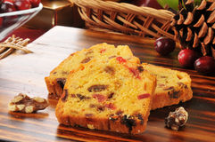 Christmas fruit cake Royalty Free Stock Photos