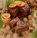 Christmas fruit cake Royalty Free Stock Photo