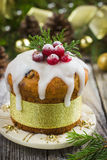 Christmas fruit cake Stock Photos