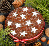 Christmas fruit cake Stock Photography