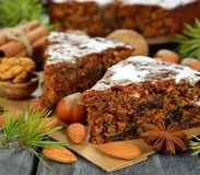 Christmas fruit cake Stock Image